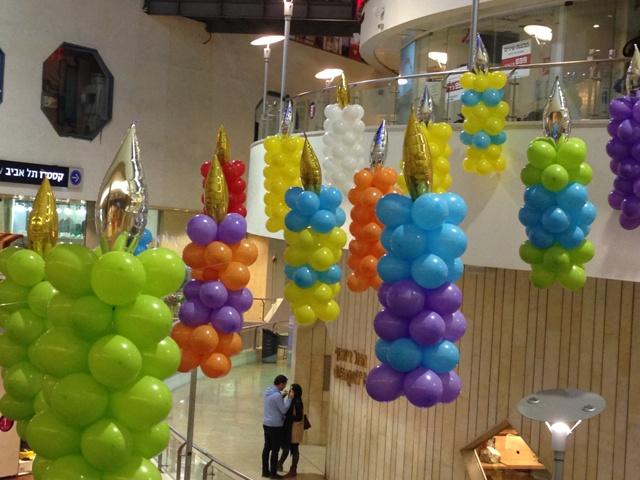 נרות מבלונים עיצוב בדיזנגוף סנטר