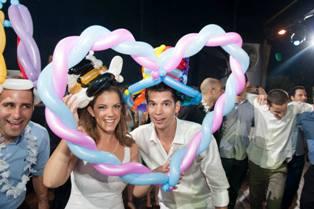 לב הבלונים לחתונה
